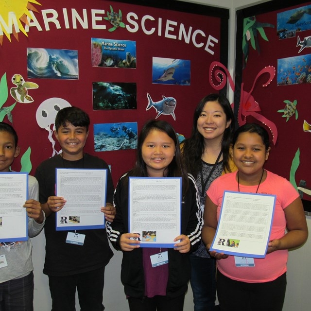 Our scholars become more conscious of the ocean after learning the importance of marine life.