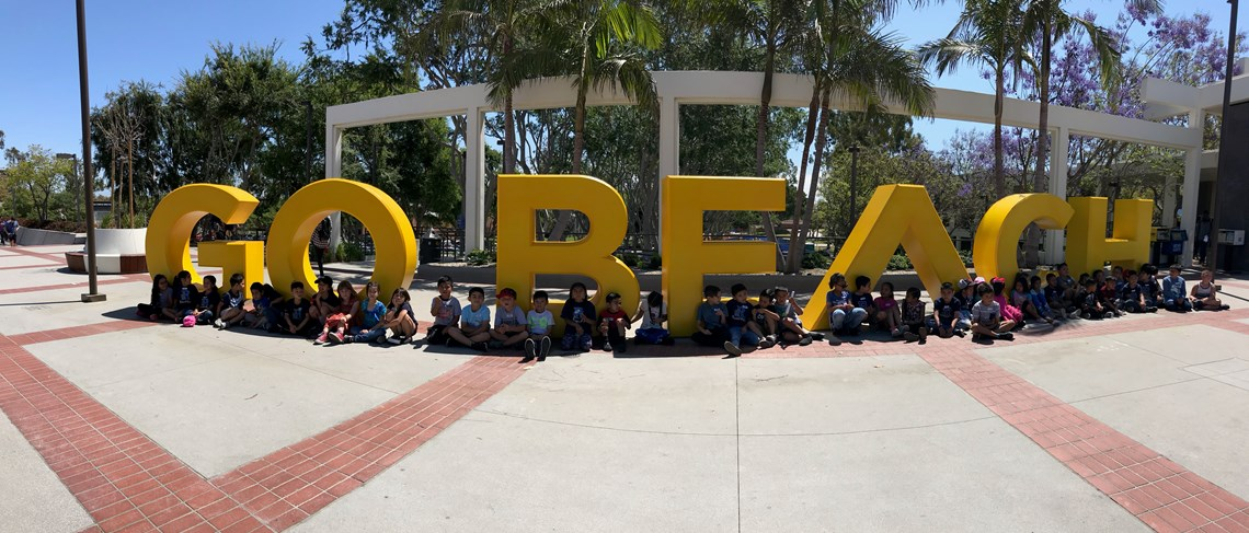 Riverdale 1st Grade Students Visit Cal State Long Beach.